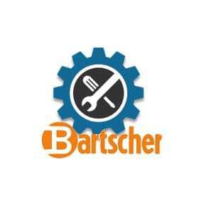 Porte en verre, blanche Bartscher - 1