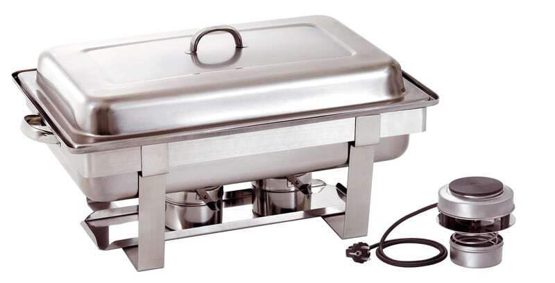 Chafing dish gn 1 1 avec plaque chauffante electrique - Plaque chauffante electrique ...