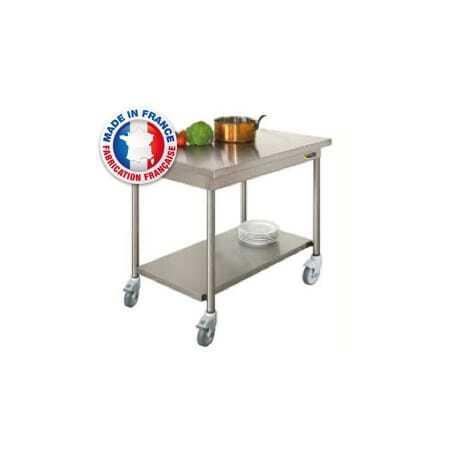 Table Centrale avec Etagère Basse sur Roulettes Bords Rayonnés SOFINOR - 1