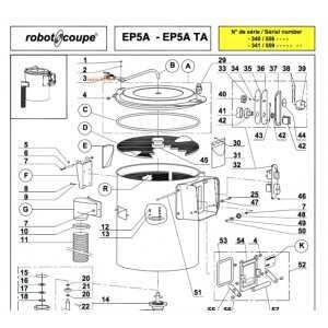 Tour Abrasif EP 5 TA Robot-Coupe - 1