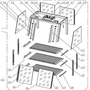 Lot de 3 grilles pour vitrine chaude Bartscher - 1