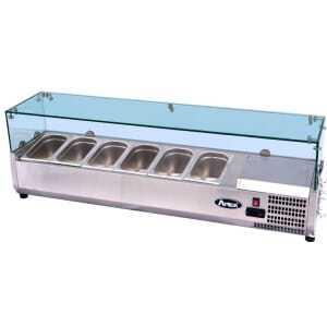 Saladette vitrée à poser pour bac GN1/3 FourniResto - 1