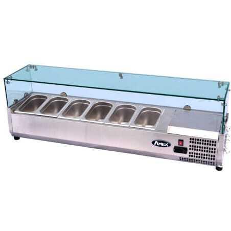 Saladette vitrée à poser pour bac GN1/3 Atosa - 1