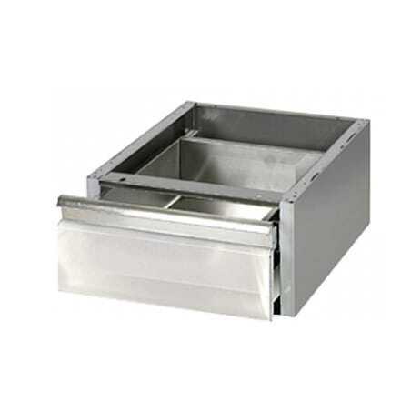 Tiroir pour table en inox 600 mm de profondeur FourniResto - 1
