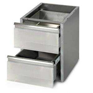 Meuble pour table 600 mm de profondeur - 2 Tiroirs FourniResto - 1