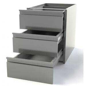 Meuble pour table 600 mm de profondeur - 3 Tiroirs