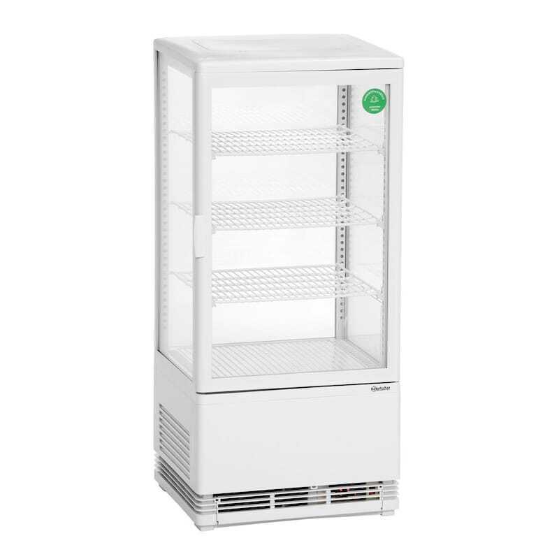 Mini Vitrine Réfrigérée - 78 L Blanche