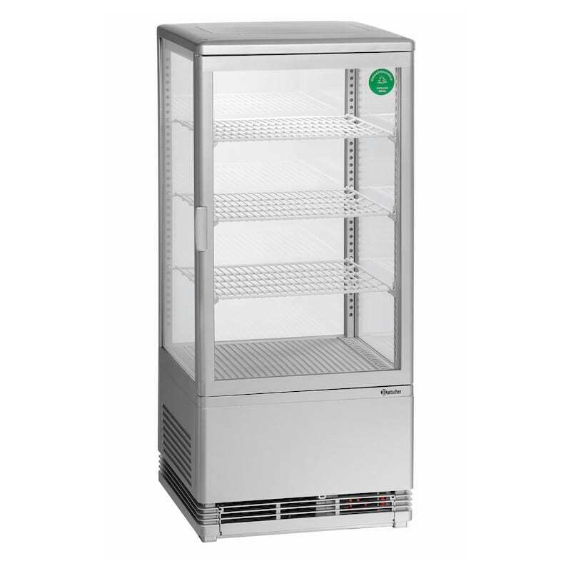 Mini Vitrine Réfrigérée - 78 L Argent
