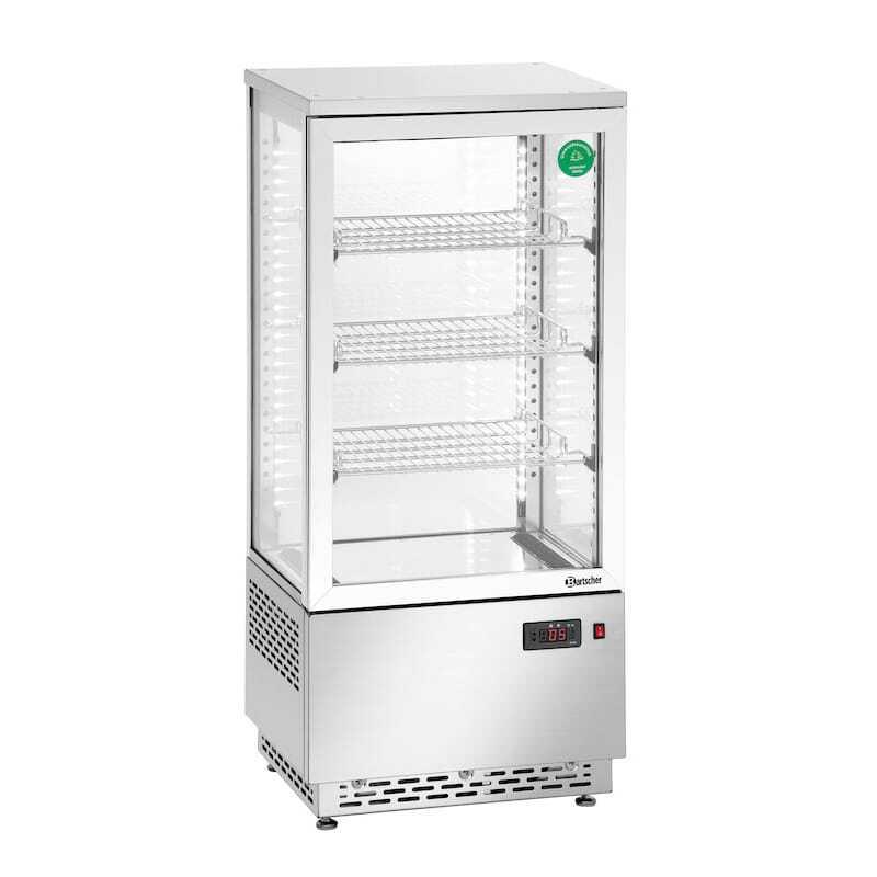 Mini Vitrine Réfrigérée - 78 L Inox