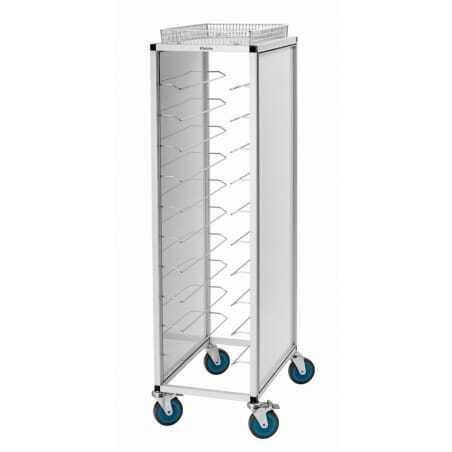 Chariot de rangement pour plateaux - Aluminium Bartscher - 1