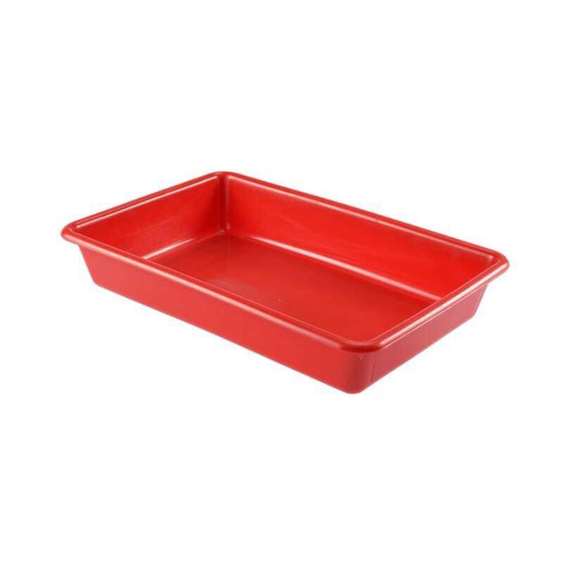 Bac Plat 8L Rouge
