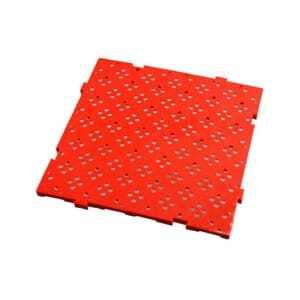 Caillebotis 50 X 50 Cm Epaisseur 22 Mm Rouge