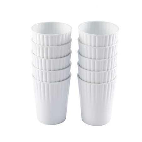 Gobelets 22Cl Blanc Lot De 10 Gilac - 1