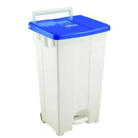 Container A Pedale 100L Couvercle Bleu Gilac - 1