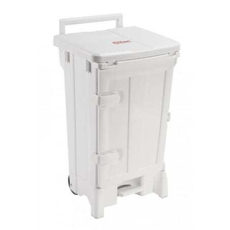 Container Polaris Avec Porte 90L Couvercle Blanc Gilac - 1