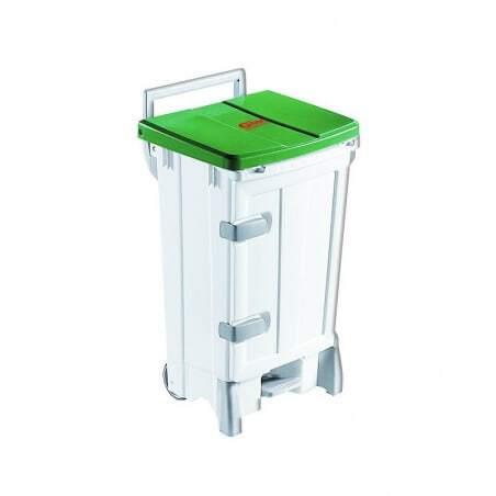 Container Polaris Avec Porte 90L Couvercle Vert Gilac - 1