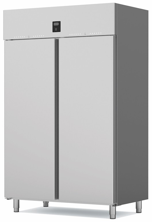 Armoire p tissi re n gative 2 portes pleines de 1300 for Froid statique froid ventile