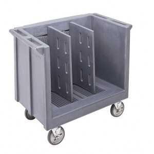 Chariot Ajustable pour Plateaux et Assiettes avec Deux Séparateurs Cambro - 1