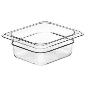 Bacs gastronormes en polycarbonate et en Camview GN1/6 - Lot de 6 Cambro - 1