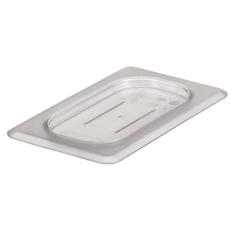 Couvercle plat GN 1/9 Transparent Camview™ sans BPA - Lot de 6