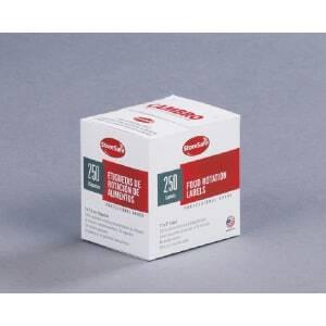 Etiquette soluble, par carton de 24 rouleaux de 250 étiquettes Cambro - 1