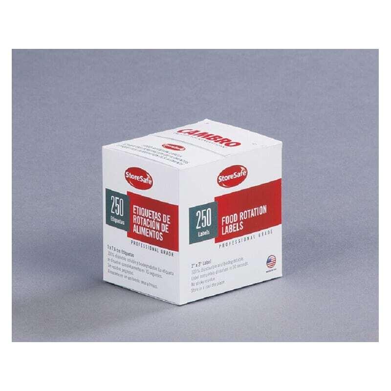 Etiquette soluble, par carton de 24 rouleaux de 250 étiquettes