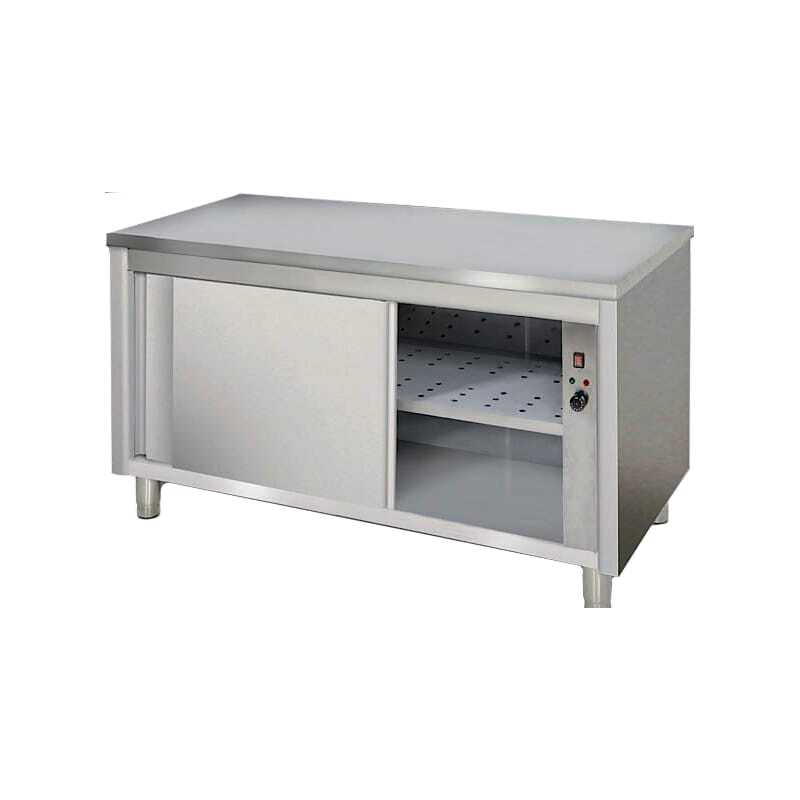 Meuble Chauffant Inox - Largeur 700 mm