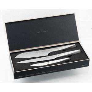 Coffret de 3 couteaux Santoku - couteau à découper - couteau d'office Type 301 Design by F.A. Porsche Chroma - 1