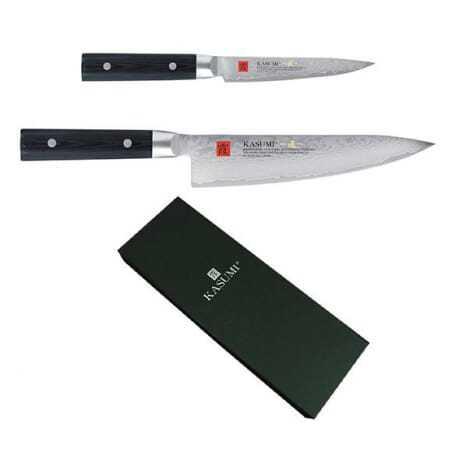 Coffret 2 couteaux Masterpiece Damas - chef 20 cm et office 12 cm Kasumi - 1