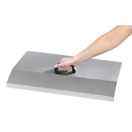 Capot Inox pour Plancha avec Plaque en Fonte Emaillée Krampouz - 3