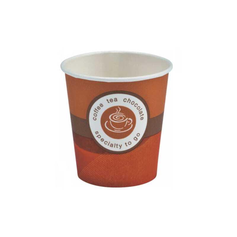 Gobelets Café Carton Brun 10 cl - Lot de 80 FourniResto - 1