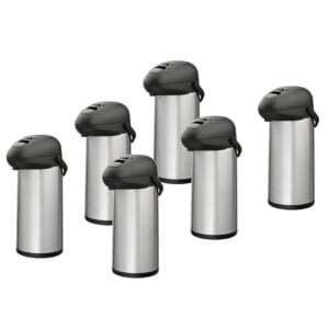 Lot de 6 Cafetières Thermos à Pompe 5 L Alpinox - 1