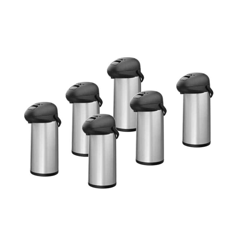 Lot de 6 Thermos à Pompe 5 L