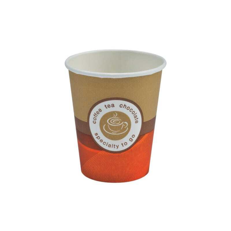 Lot de 2000 Gobelets Café Carton Brun 17,5 cl
