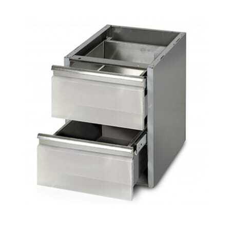 Meuble pour Table 700 mm de Profondeur - 2 tiroirs FourniResto - 1