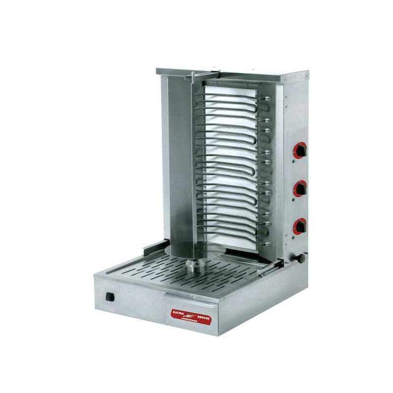 Broche kebab Électrique - 25 kg Multigroup DKE060