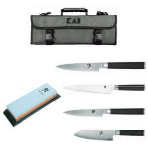 Mallette de 4 Couteaux et Pierre à Aiguiser KAI - 1
