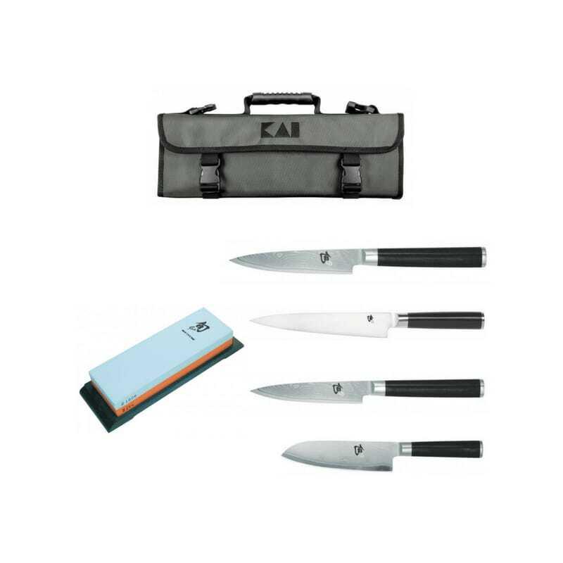 Mallette de 4 Couteaux et Pierre à Aiguiser