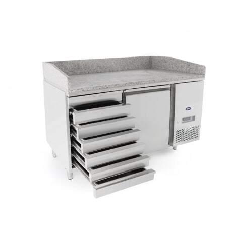 Meuble à Pizza 600x400 - 1 Porte et 7 tiroirs Atosa - 1