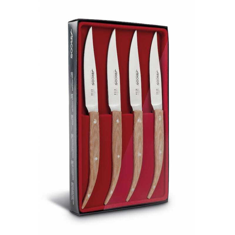 Coffret Couteaux à Steak 11 cm Micarta Beige
