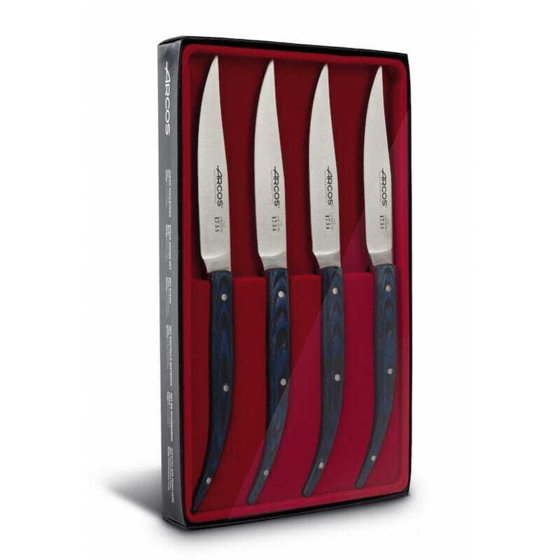 Coffret Couteaux à Steak 11 cm - Micarta Bleu Arcos - 1