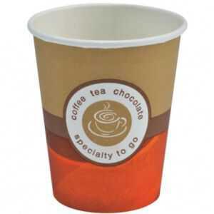 Lot de 100 Gobelets Café Carton Brun 12 cl