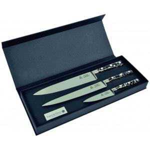 Coffret de 3 couteaux de cuisine Pépites Au Nain - 1