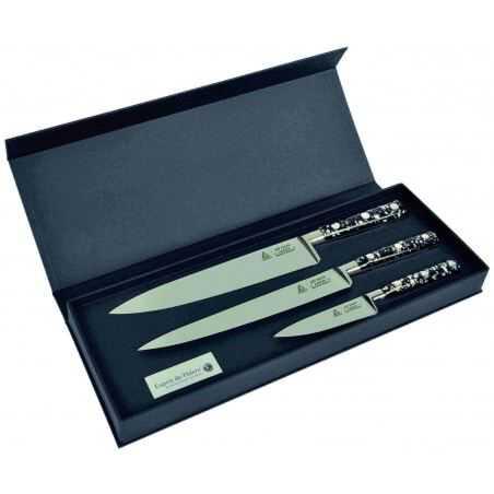 Coffret de 3 couteaux de cuisine p pites au nain fabrication fran aise de la marque au nain - Coffret couteaux de cuisine ...