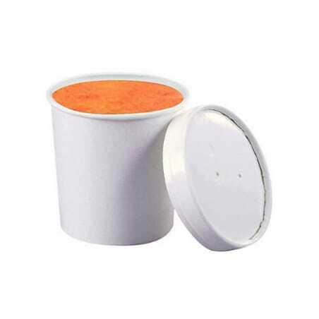 Pot Universel Blanc - 40 cl - Lot de 250 FourniResto - 1