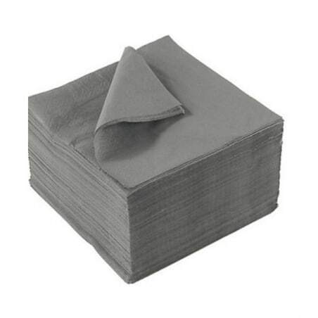 Serviettes Papier Grises - 33 x 33 cm - LOT DE 2000 FourniResto - 1