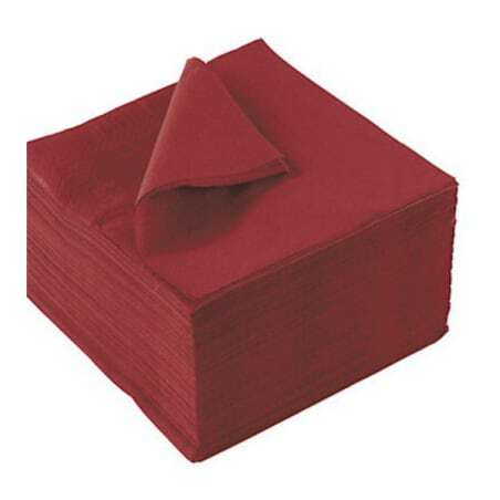 Serviettes Pure Ouate Rouge - 33 x 33 cm - Lot de 350 FourniResto - 1