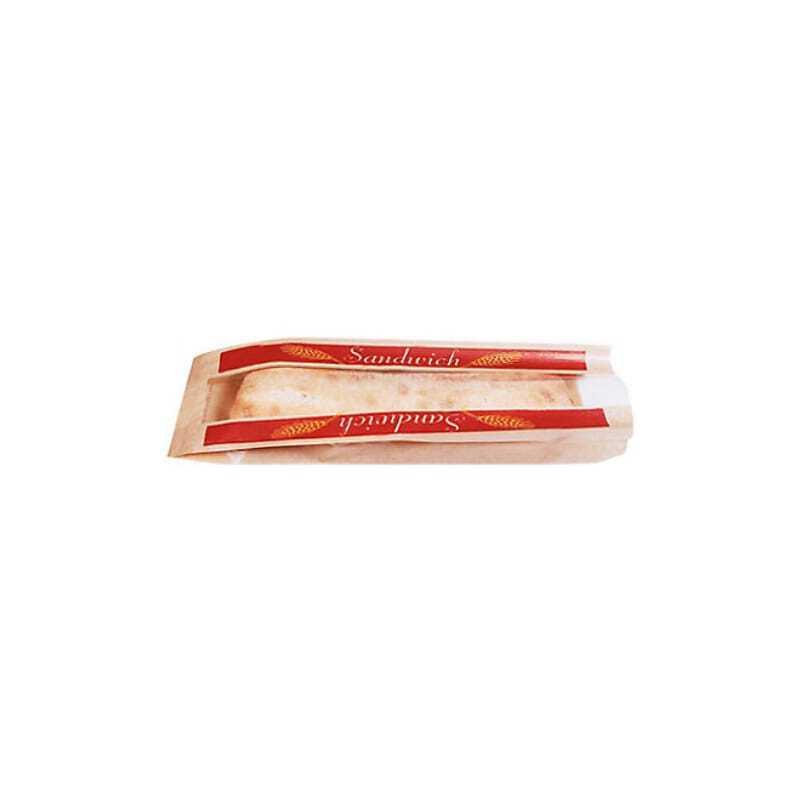 Sac Sandwich Papier avec Fenêtre - Lot de 1000 FourniResto - 1