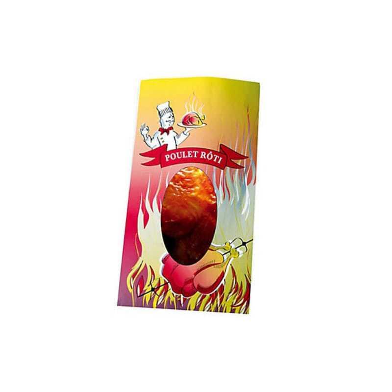 Sac Thermoscellable pour Poulet Rôti avec fenêtre - 20 x 35,5 cm - Lot de 400 FourniResto - 1