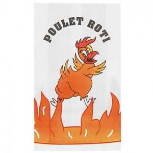 Sac Thermoscellable pour Poulet Rôti - 20 x 35,5 cm - Lot de 500 FourniResto - 1